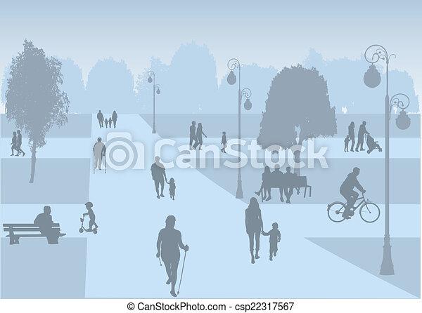 recreação, ao ar livre - csp22317567