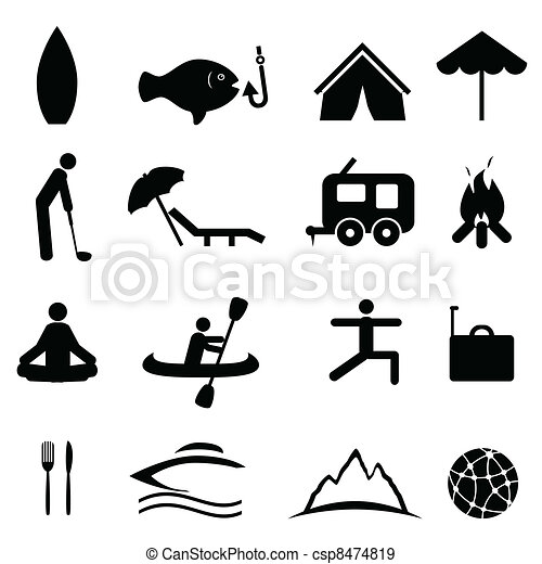 iconos de deporte y recreación - csp8474819