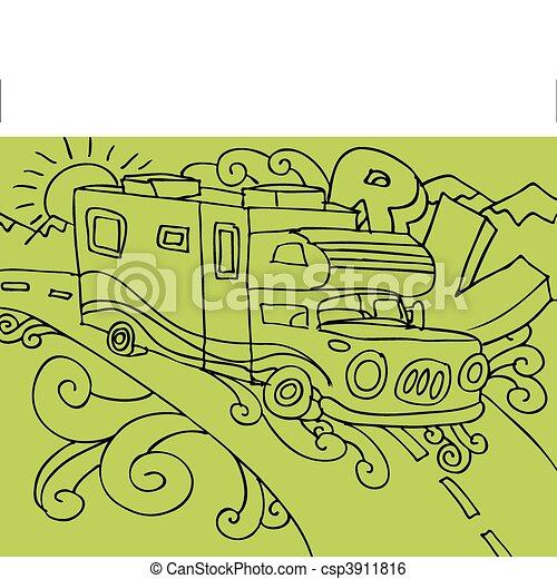 recreatief voertuig - csp3911816