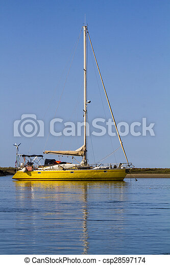 recreational yacht on the water - csp28597174