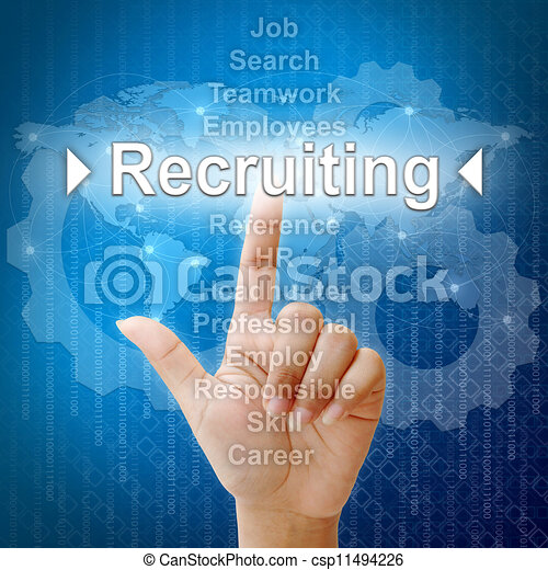 Recruiting, Business concept in word for Human resources - csp11494226