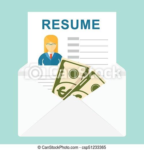 Recruitment bribe for employment. Resume vector. recruitment... clip ...