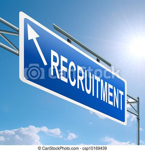 Recruitment concept. - csp10169439