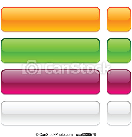 Rectangle buttons on white background. - csp8008579