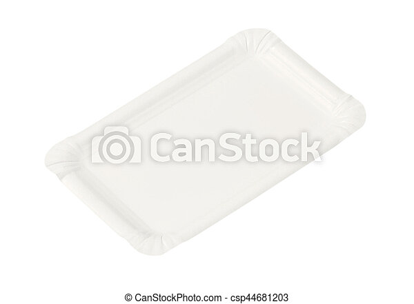 rectangle paper plate - csp44681203  sc 1 st  Can Stock Photo & Rectangle paper plate. Disposable rectangle white paper plate.