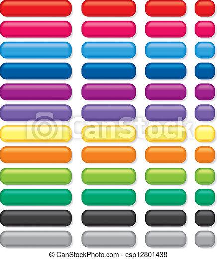 Rectangular 3D Buttons - csp12801438