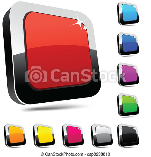 Rectangular 3d buttons. - csp8238810