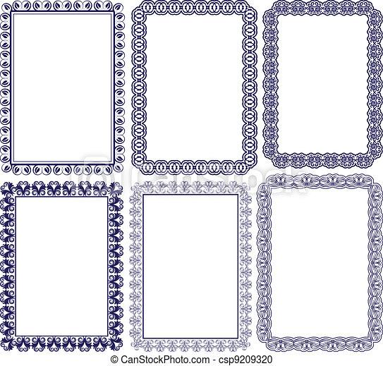 Rectangular Frames Rectangular Frame With Embellishments