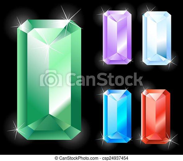 rectangular jewels - csp24937454