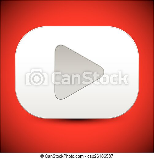 Rectangular Play Button - csp26186587