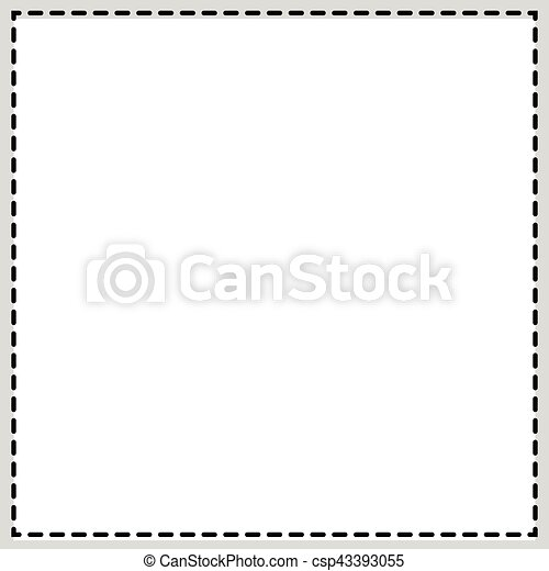 Rectangular, square photo frame. newspaper, classified ad... clipart ...