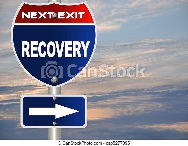 recuperação, sinal estrada - csp5277095