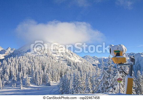 recurso, áustria, schladming, esqui - csp22467458