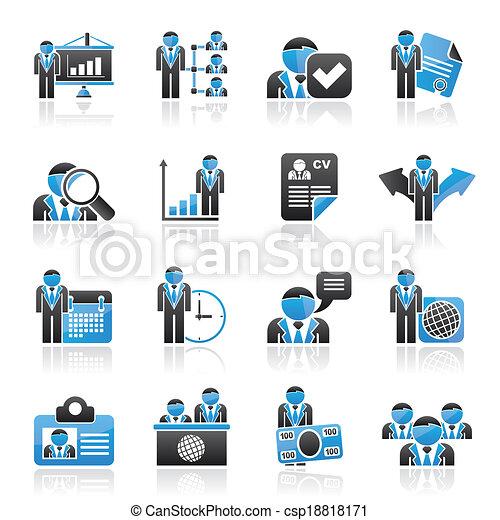Icos de recursos humanos y empleo - csp18818171