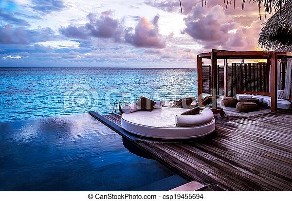 recurso, praia, luxo - csp19455694