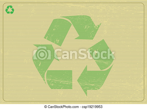 Recyclabe horizontal background - csp19219953