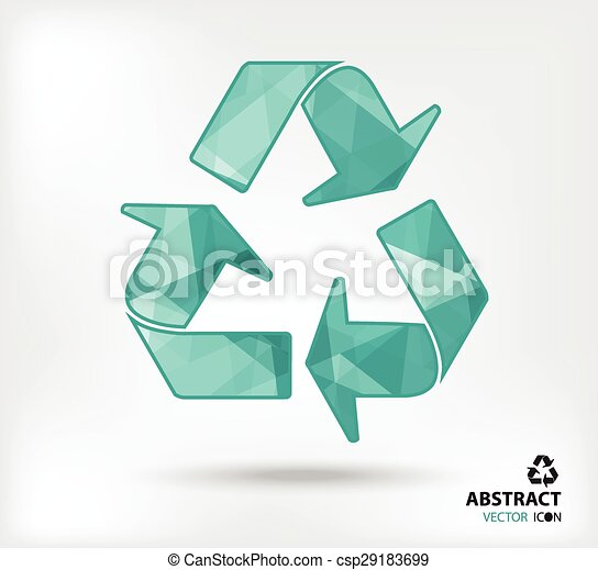 recycle abstract vector icon geometric polygon - csp29183699