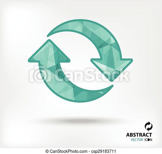 recycle abstract vector icon geometric polygon - csp29183711