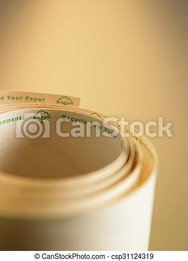 recycle adding machine tape - csp31124319