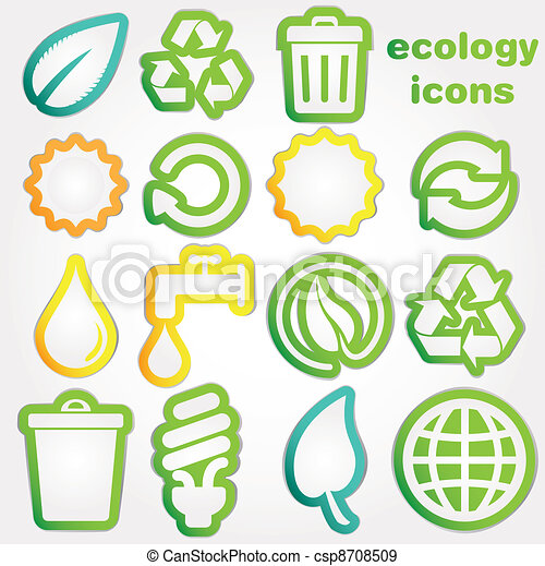 Recycle and ecology icons collectio - csp8708509