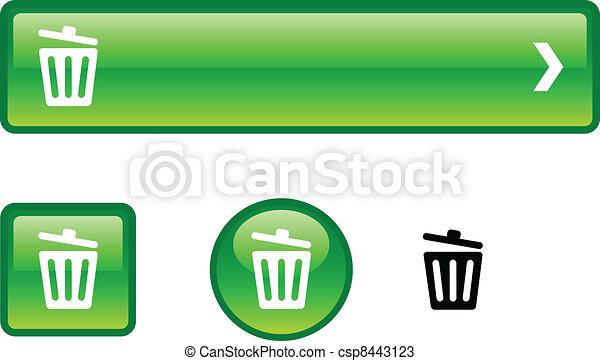 Recycle bin. button set. - csp8443123