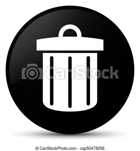 Recycle Bin Icon Black Round Button Recycle Bin Icon Isolated On