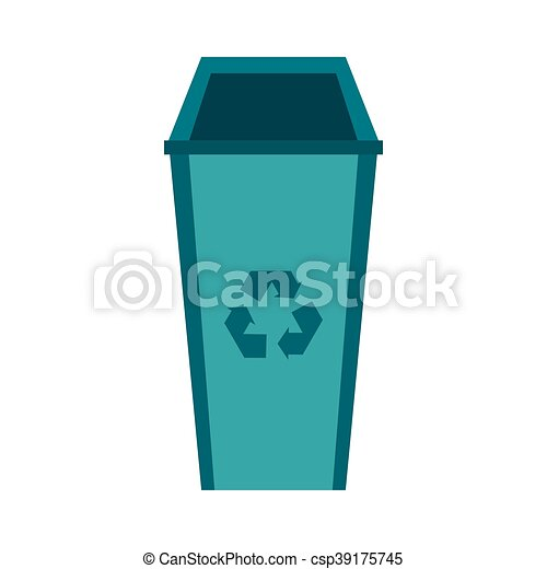 Recycle Bin Icon Flat Style Recycle Bin Icon In Flat Style