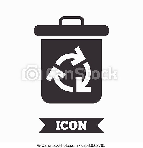 Recycle Bin Icon Reuse Or Reduce Symbol Graphic Design Element