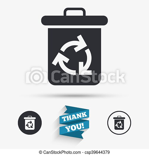 Recycle Bin Icon Reuse Or Reduce Symbol Flat Icons Buttons With