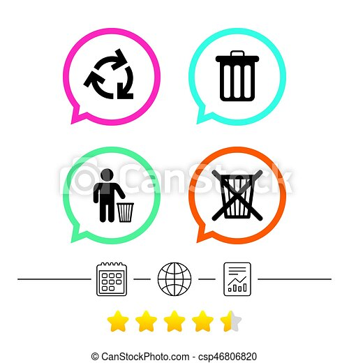 Recycle Bin Icons Reuse Or Reduce Symbol Recycle Bin Icons Reuse