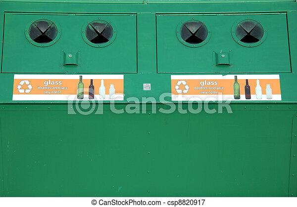 Recycle bins. - csp8820917