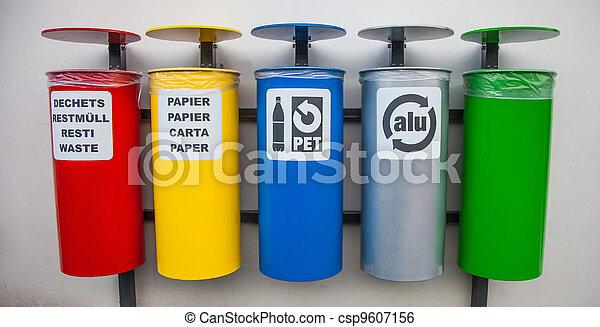 Recycle Bins - csp9607156