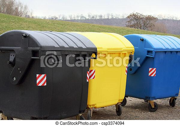 recycle bins - csp3374094