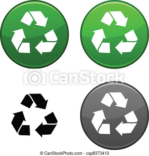 Recycle button. - csp8373410