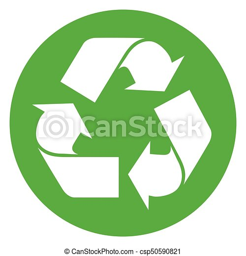 recycle green circle icon - csp50590821