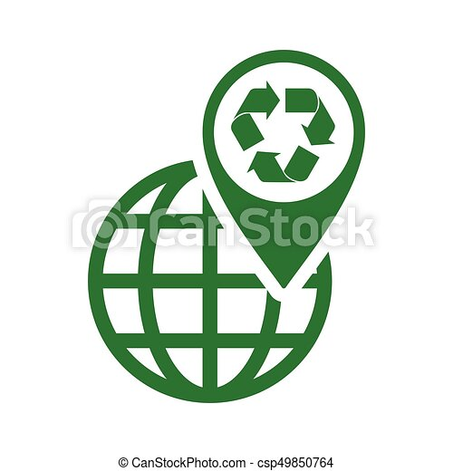 recycle icon green triangle on white background clip art vector rh canstockphoto com recycling icon vector free recycle bin icon vector free download