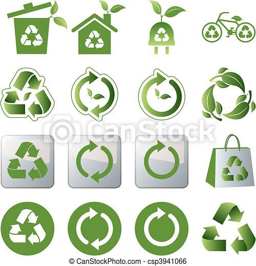 Recycle icons set - csp3941066