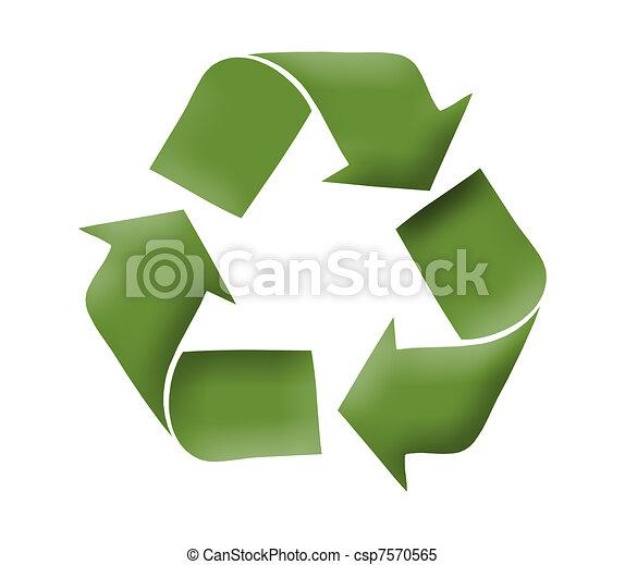 Recycle logo concept - csp7570565