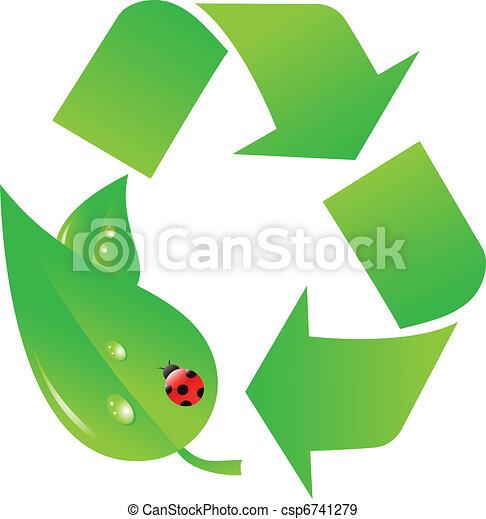 Recycle logo - csp6741279