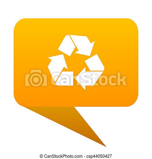 recycle orange bulb web icon isolated. - csp44050427