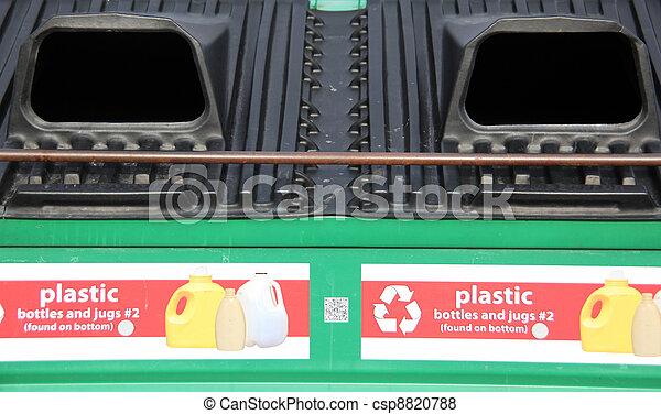 Recycle plastic bins. - csp8820788