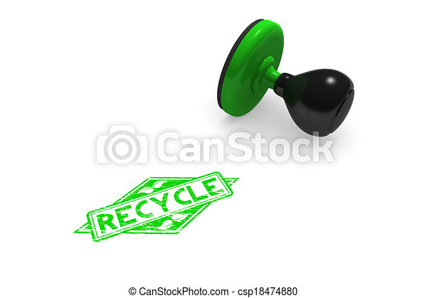 Recycle Rubber Stamp - csp18474880