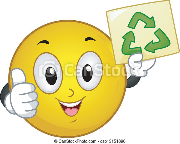 Recycle Sign Smiley - csp13151896
