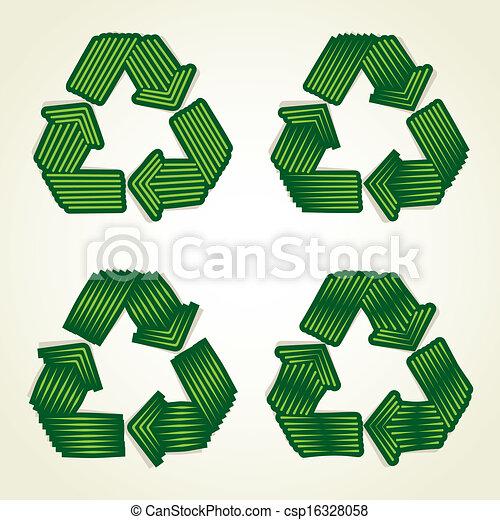 Creative Recycle Symbol Vector