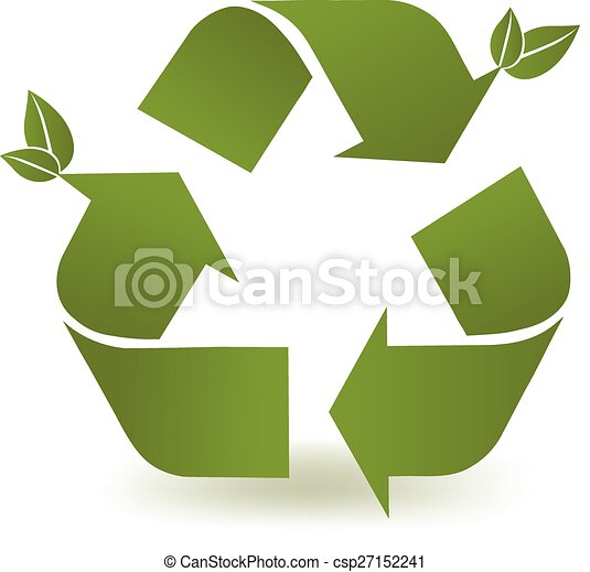 Recycle Symbol Green Recycle Symbol With A Couple Of Leaves