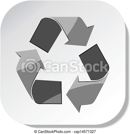Vector Recycle Symbol Icon Sticker Eps 10