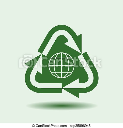 Recycle Symbol Isolated Design Element Background For Ecology Go