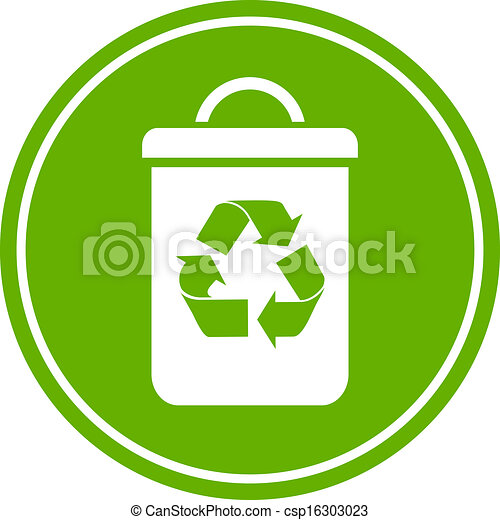 Recycle waste bin icon - csp16303023