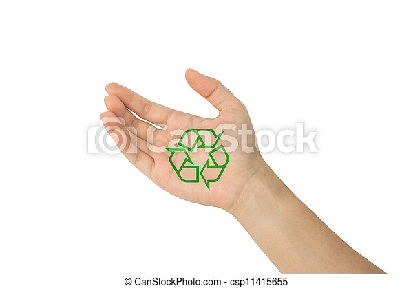 Recycle with in hand - csp11415655