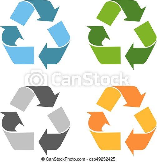 Recycled eco vector icon - csp49252425